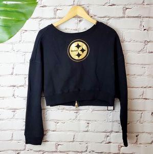 NWT Pittsburgh Steelers Crop Sweatshirt Back Zip